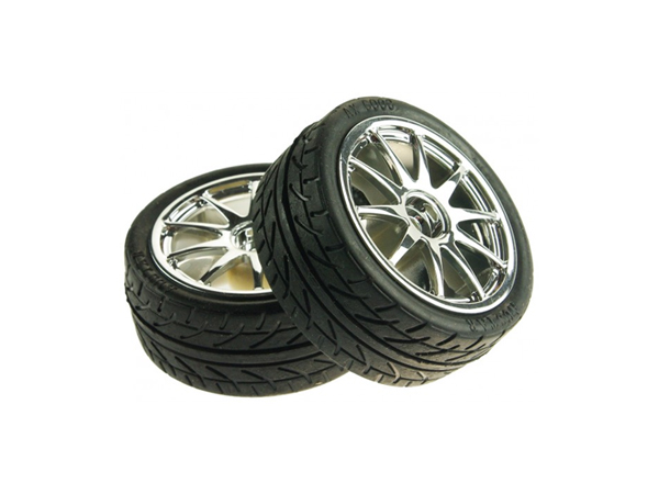 D65mm Rubber Wheel Pair - Silver (without shaft)[FIT0199-S]