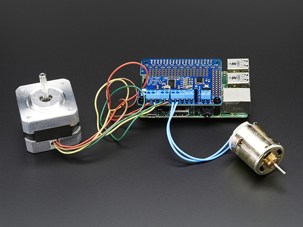 Adafruit DC & Stepper Motor HAT for Raspberry Pi - Mini Kit [ada-2348]