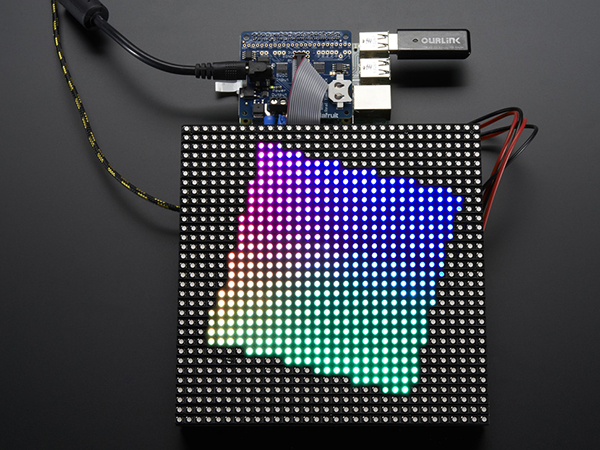 Adafruit RGB Matrix HAT + RTC for Raspberry Pi - Mini Kit [ada-2345]