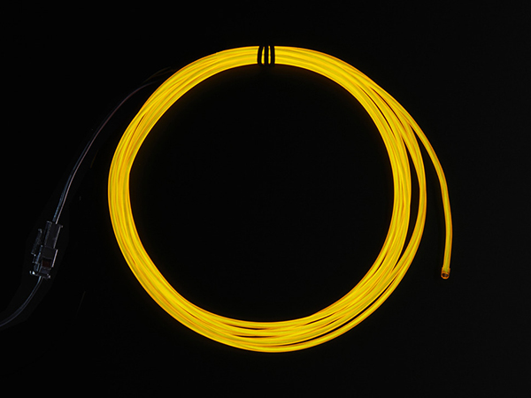 EL wire starter pack - Yellow 2.5 meter [ada-585]