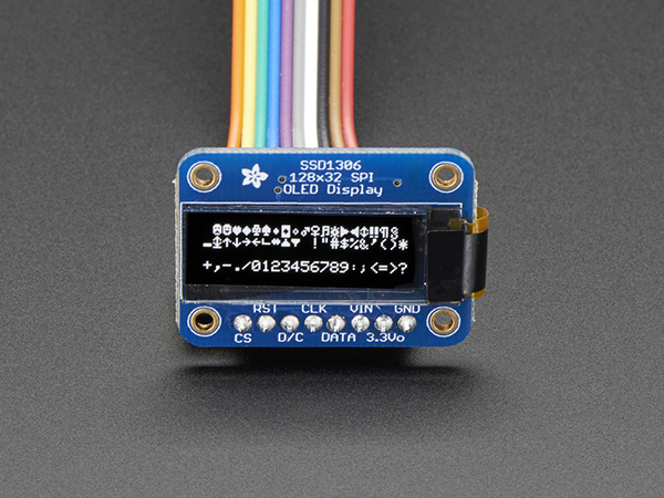 Monochrome 128x32 SPI OLED graphic display [ada-661]