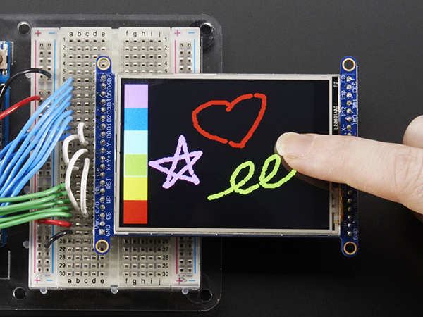 2.8' TFT LCD with Touchscreen Breakout Board w/MicroSD Socket - ILI9341 [ada-1770]