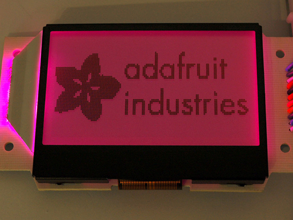 Graphic ST7565 Positive LCD (128x64) with RGB backlight + extras - ST7565 [ada-250]