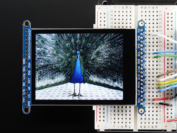 2.8' TFT LCD with Cap Touch Breakout Board w/MicroSD Socket [ada-2090]