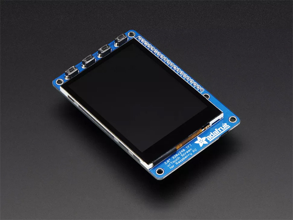 PiTFT Plus 320x240 2.8인치 TFT + Capacitive Touchscreen - Assembled - Pi 2 and Model A+ / B+ [ada-2423]