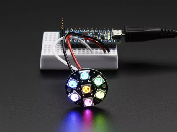 NeoPixel Jewel - 7 x WS2812 5050 RGB LED with Integrated Drivers [ada-2226]