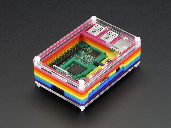 Rainbow Pibow - Enclosure for Raspberry Pi 2 and Model B+ [ada-2084]