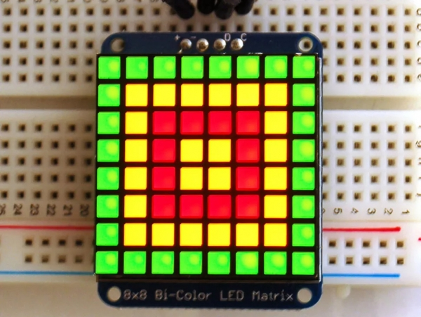Adafruit Bicolor LED Square Pixel Matrix with I2C Backpack [ada-902]