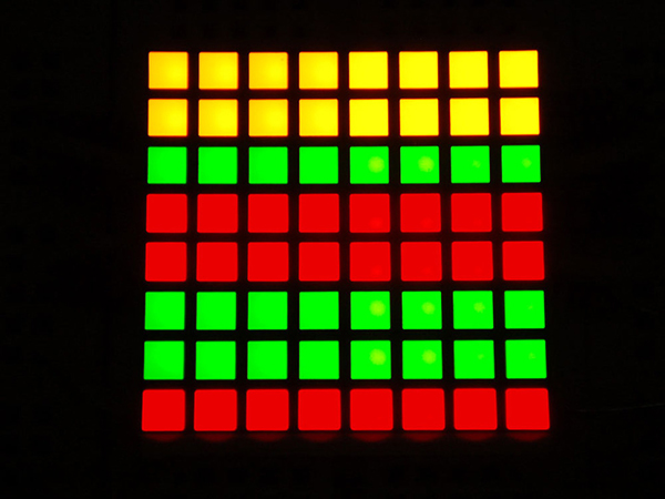 Small 1.2' 8x8 Bi-Color (Red/Green) Square LED Matrix [ada-458]
