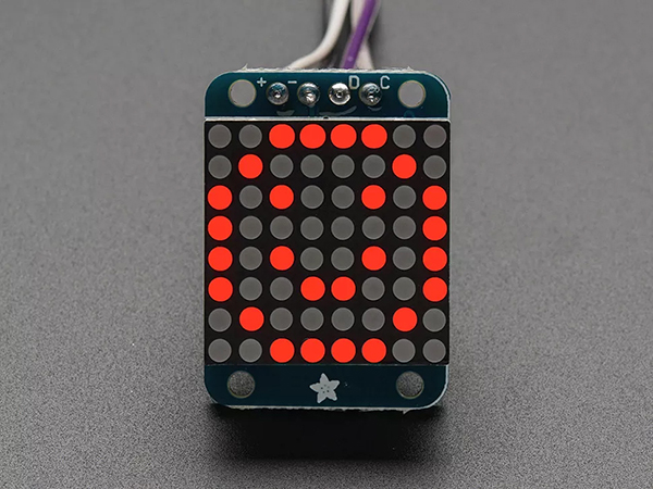 Adafruit Mini 8x8 LED Matrix w/I2C Backpack - Red [ada-870]