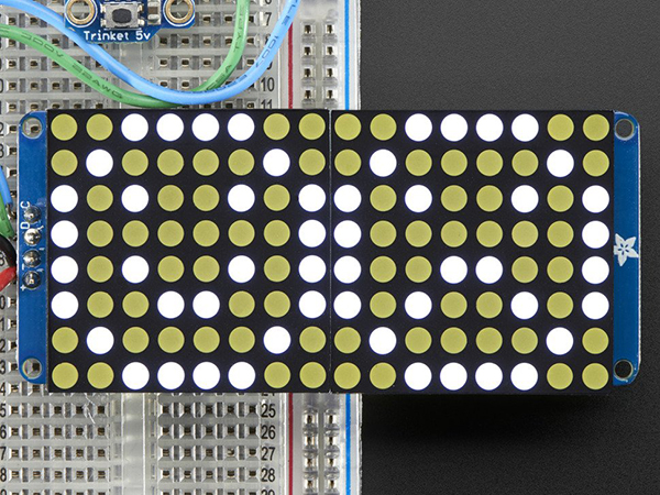 16x8 1.2' LED Matrix + Backpack - Ultra Bright Round White LEDs [ada-2038]