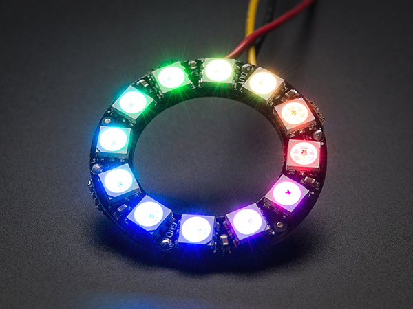 NeoPixel Ring - 12 x WS2812 5050 RGB LED with Integrated Drivers [ada-1643]