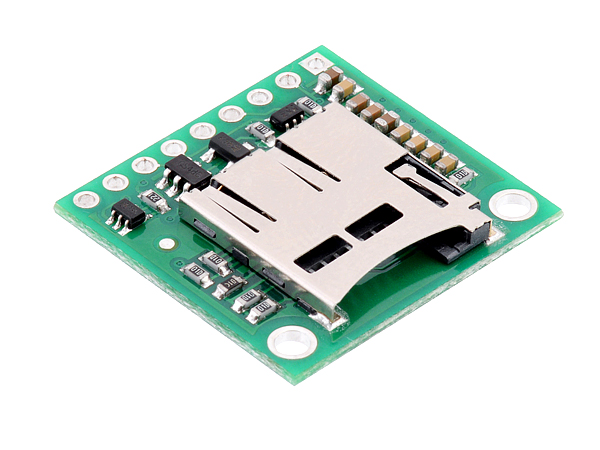 Breakout Board for microSD Card with 3.3V Regulator and Level Shifters