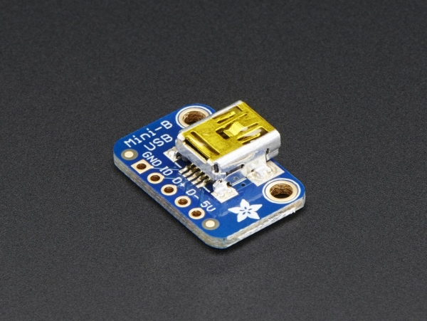 USB Mini-B Breakout Board [ada-1764]