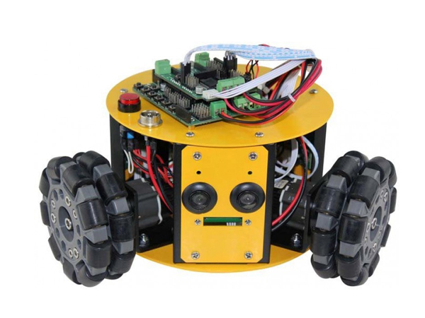 3WD 100mm Omni Wheel Mini Mobile Robot Kit [NX-10016]
