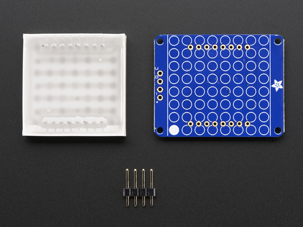 Small 1.2' 8x8 Ultra Bright Square Blue LED Matrix + Backpack [ada-1853]