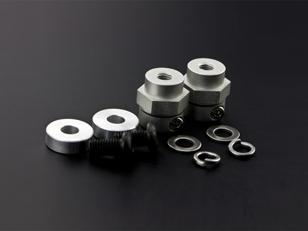 5mm Rubber Wheel Coupling Kit (Pair) [FIT0387]