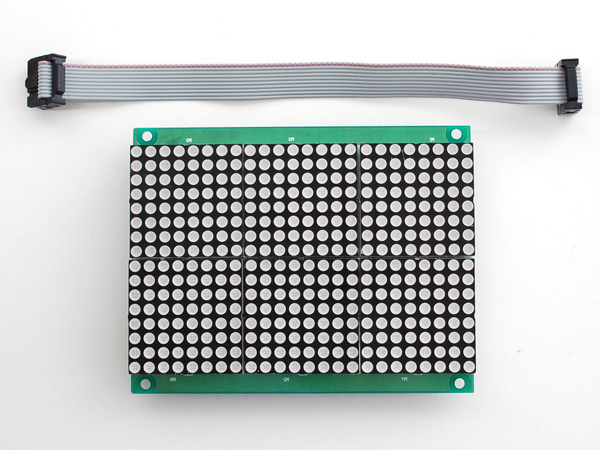 16x24 Red LED Matrix Panel - Chainable HT1632C Driver [ada-555]