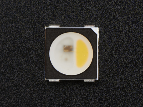 NeoPixel RGBW LEDs w/ Integrated Driver Chip - Warm White - ~3000K - Black Casing - 10 Pack [ada-2760]