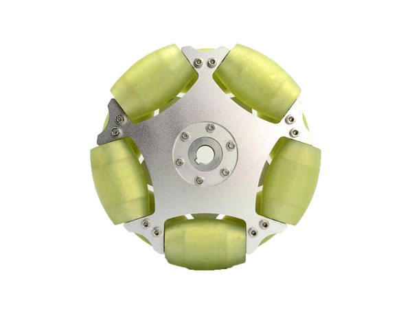 203MM ALUMINUM OMNI WHEEL WITH PU ROLLER(80KG LOAD )[NX-14194]