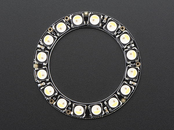 NeoPixel Ring - 16 x 5050 RGBW LEDs w/ Integrated Drivers - Natural White - ~4500K [ada-2855]