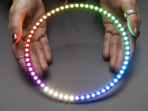 NeoPixel 1/4 60 Ring - 5050 RGBW LED w/ Integrated Drivers - Natural White - ~4500K [ada-2874]