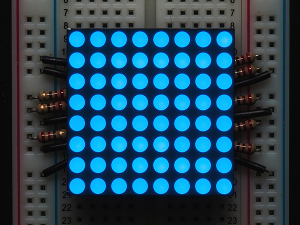 Small 1.2' 8x8 Ultra Bright Blue LED Matrix - KWM-30881CBB [ada-1047]