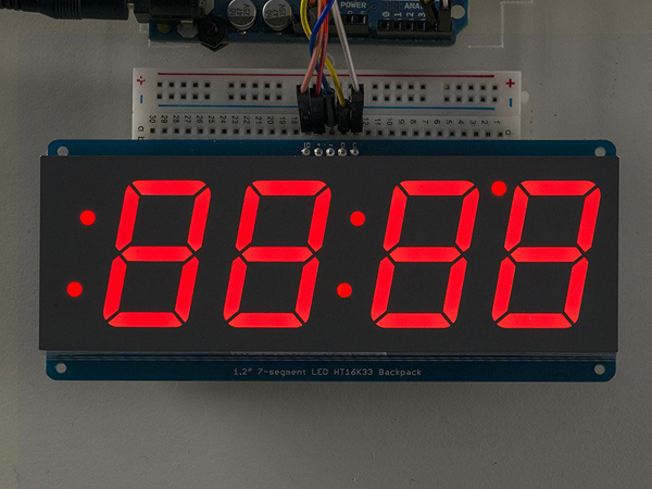 Adafruit 1.2' 4-Digit 7-Segment Display w/I2C Backpack - Red [ada-1270]