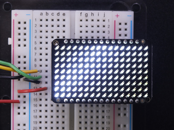 LED Charlieplexed Matrix - 9x16 LEDs - Cool White [ada-2974]