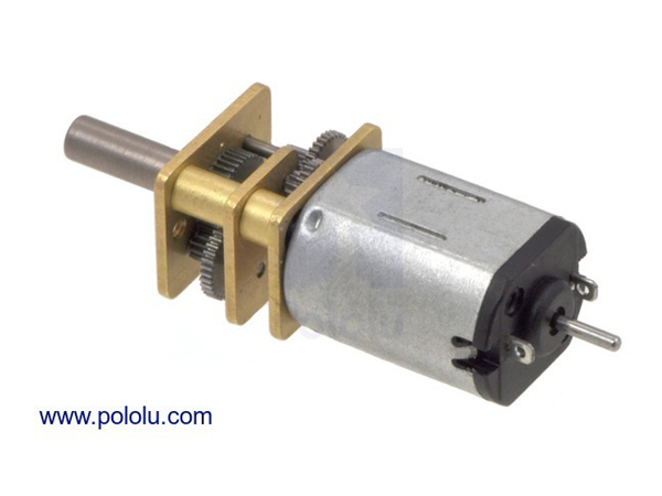 DC기어드 모터 210:1 Micro Metal Gearmotor MP 6V with Extended Motor Shaft