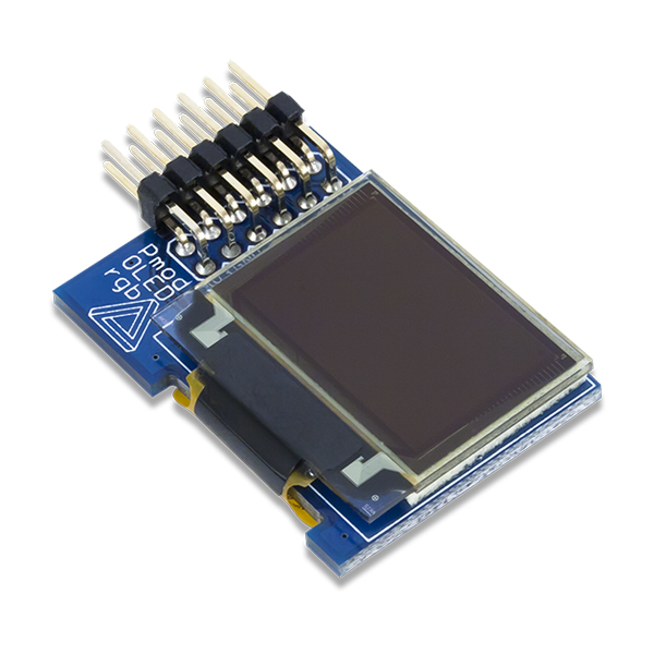 PmodOLEDrgb: 96 x 64 RGB OLED with 16-bit color resolution
