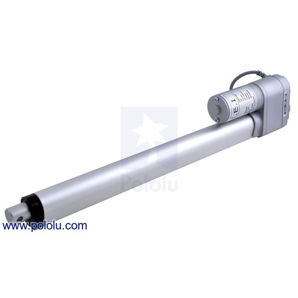 Glideforce LACT12P-12V-05 Light-Duty Linear Actuator with Feedback: 15kgf, 12' Stroke, 1.7'/s, 12V