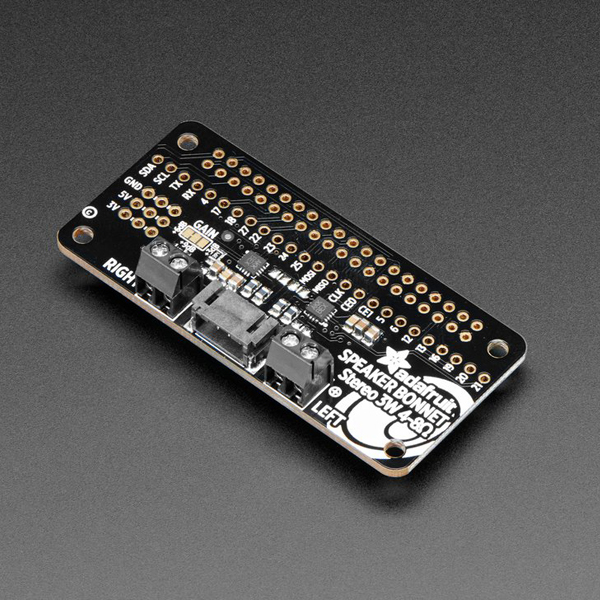 Adafruit I2S 3W Stereo Speaker Bonnet for Raspberry Pi - Mini Kit [ada-3346]