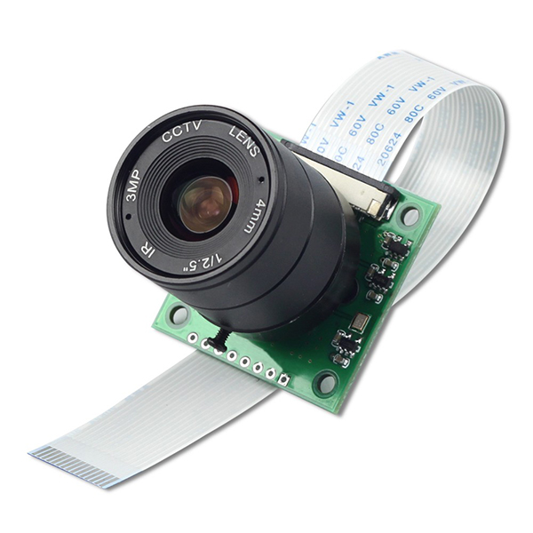라즈베리파이 카메라 모듈 NOIR 8MP Sony IMX219 camera module with CS lens 2718 [B0153]