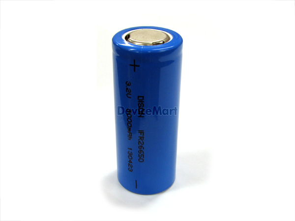 3.2V 3000mAh 리튬인산철 배터리 Lithium-ion Phosphate Battery 26650