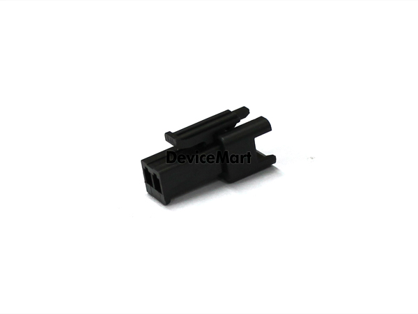 JST 커넥터 / Wire-To-Wire Connector / SMP 커넥터와 사용 / SMR용 클림프 사용 / 2.5mm Pitch / 2Pin / Black