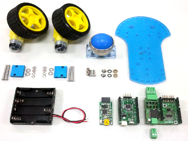 GeDuino Bluetooth 2Wheel Robot Kit (Arduino UNO R3 100% 호환 2휠로봇 )