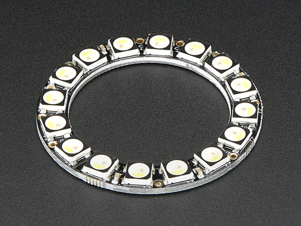 NeoPixel Ring - 16 x 5050 RGBW LEDs w/ Integrated Drivers - Warm White - ~3000K [ada-2854]