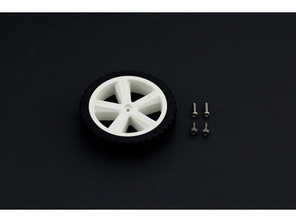 DC 모터용 실리콘 휠 80mm (Silicone Wheel For TT Motor) [FIT0500]