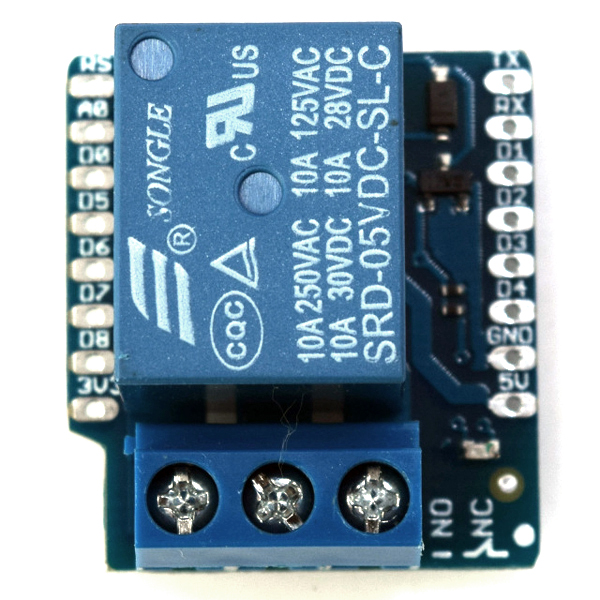 [정품] WeMos D1 Mini용 릴레이 실드 Relay Shield V2.0.0 for LOLIN (WEMOS)