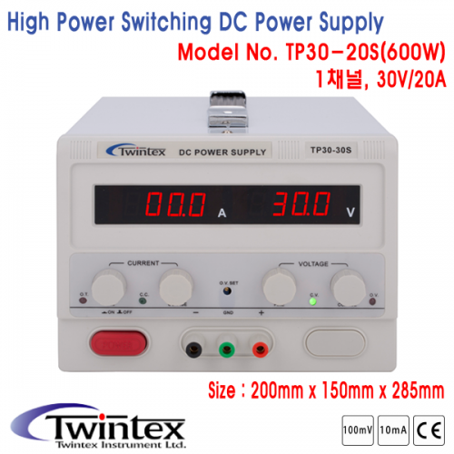 High Power Switching DC Power Supply, 1채널 DC전원공급기 [TP30-20S]