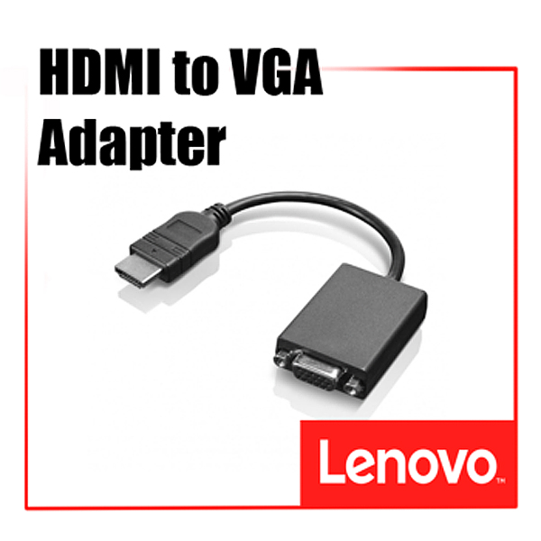 [디지탈노뜨 정품][0B47069] Lenovo HDMI to VGA(RGB) Monitor Adapter