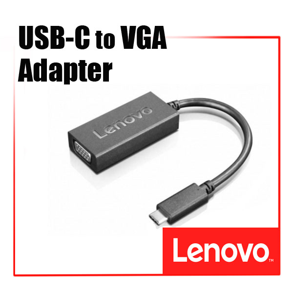 [디지탈노뜨 정품][4X90M42956] Lenovo USB-C to VGA Adapter