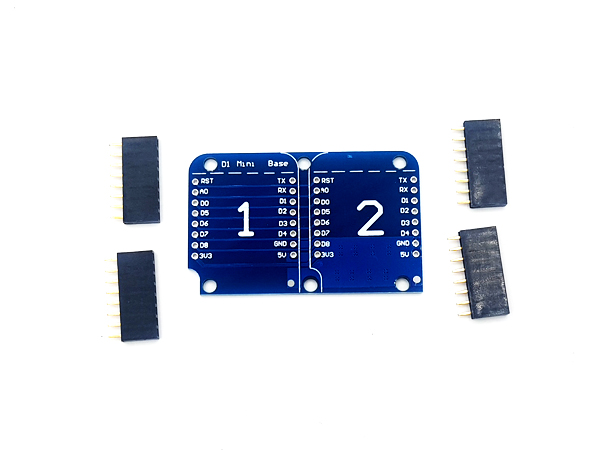 WeMos D1 Mini 호환 Dual Base Shield [YR-023]