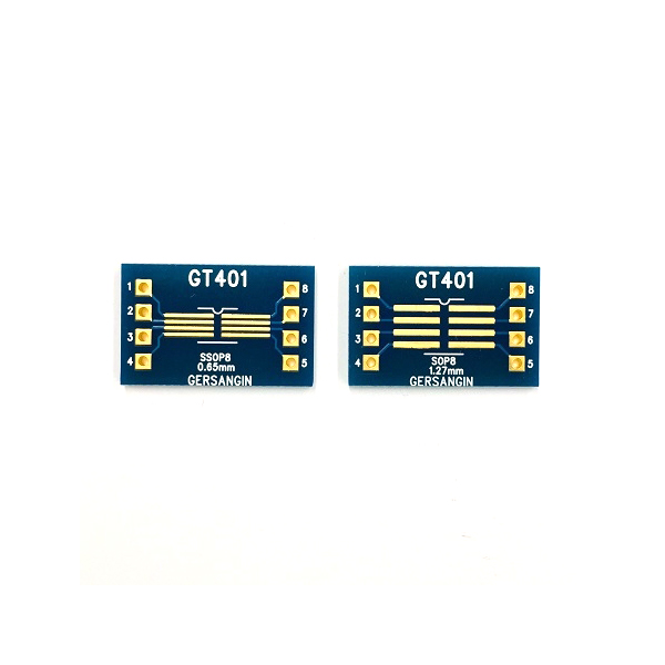 [GT 401] SSOP-08-0.65mm, SOP-08-1.27mm  Double adapter 변환기판 pcb adapter TSSOP SO
