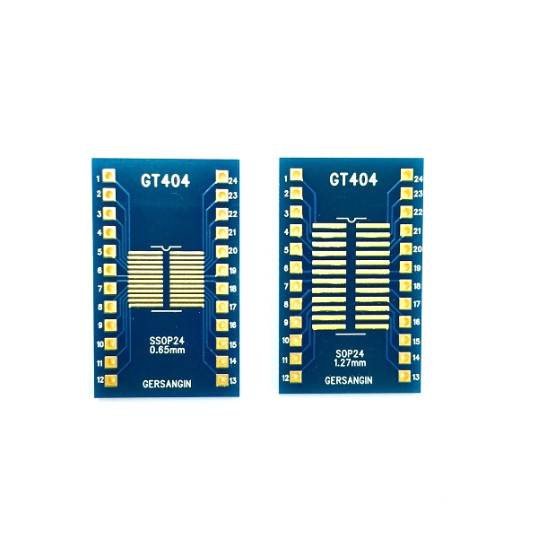 [GT 404] SSOP-24-0.65mm, SOP-24-1.27mm  Double adapter 변환기판 pcb adapter TSSOP SO