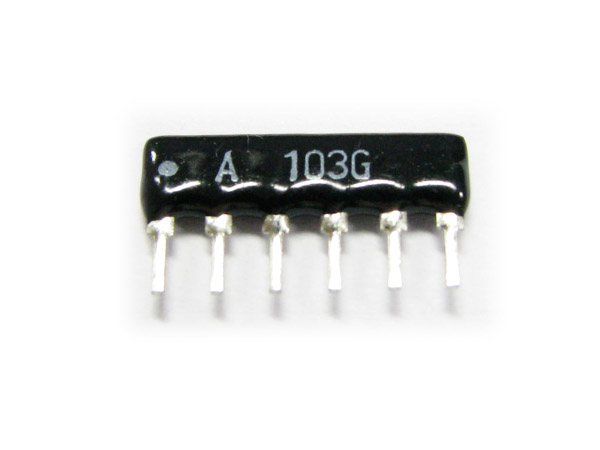 6x103J(10KΩ) 6pin Sip type