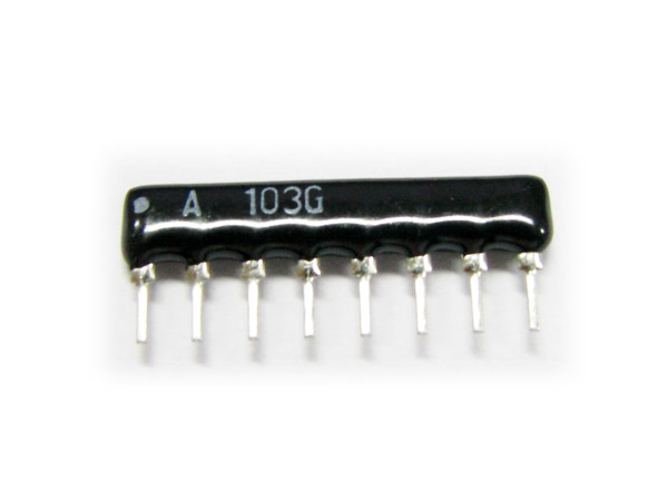 8x102J(1KΩ) 8pin Sip type