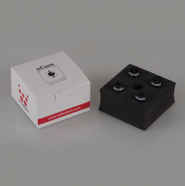 [oCam] Lens4-8-6-3-2.6-No IRcut, oCam 시리즈 카메라와 함께 사용하기에 이상적인 4개의 M12 렌즈세트, 다양한 어플리케이션을 위한 다양한 초점거리, 표준 M12 마운트