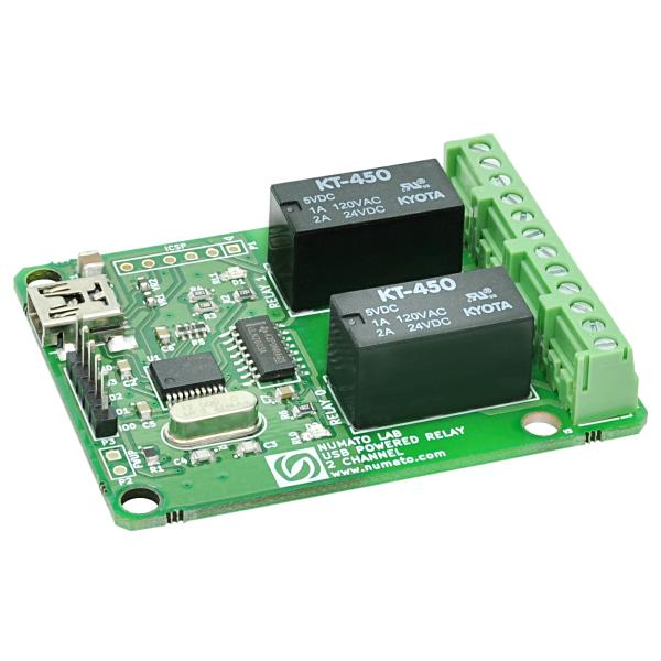 2채널 USB powered 릴레이 모듈 [2 Channel USB Powered Relay Module]